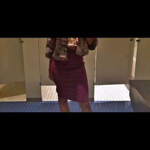 FOREVER 21 Plum knee length fitted skirt